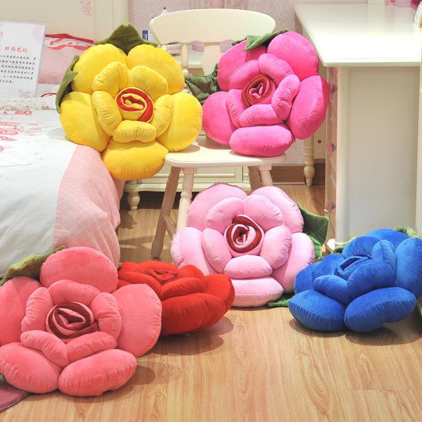玫瑰花抱枕靠墊靠枕40公分(現+預)