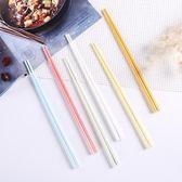 新年大促北歐糖果彩色小清新家用陶瓷骨瓷筷子簡約高檔抗菌環保耐高溫 森活雜貨