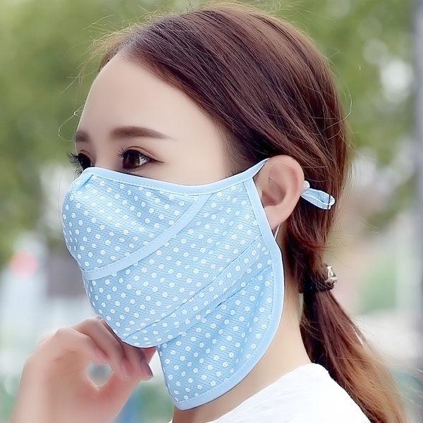 口罩/面罩 防曬透氣防紫外線薄款開口夏天遮陽面罩男全臉護頸