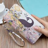 錢包女長款新款日韓版拉鍊印花卡通大容量手拿包錢夾皮夾女潮