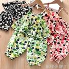 童裝夏裝2021夏季新款女童套裝寶寶兩件套兒童吊帶上衣洋氣防蚊褲 蘿莉新品