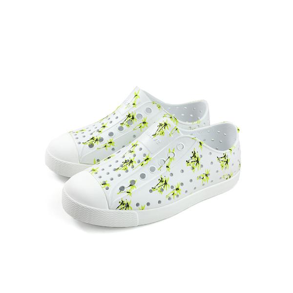 native JEFFERSON PRINT 懶人鞋 洞洞鞋 白色 棕櫚樹 小童 童鞋 13100101-8781 no895