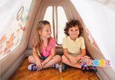 送50個球 INTEX充氣帳篷兒童游戲屋寶寶充氣玩具屋海洋球池 XW