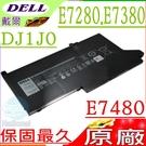 DELL 電池(原廠)-戴爾 DJ1J0,  E7280,E7380,E7390,E7480 ,E7490,12 7000 ,12 7280 ,12 7480 ,2X39G,0G74G