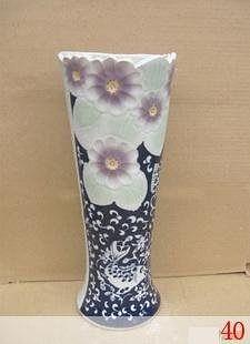 花草物語 高溫陶瓷手繪花瓶