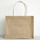 購物袋 麻布袋子帆布黃麻手提袋拉鏈袋子收納帆布包手提文藝小清新學生   koko時裝店