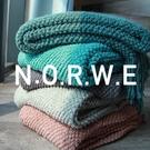 北歐沙發蓋毯秋冬空調毯辦公室小毯子午睡毯薄款針織毯毛巾被單人 夢幻小鎮ATT