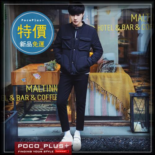 PocoPlus 2016冬裝青年韓版修身棉服男短款加厚棉衣冬天立領棉襖外套潮   C349