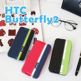 蝴蝶機2代 HTC Butterfly 2 B810X 支架皮套 側翻可立 支架 商務 書本式 保護套