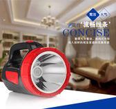 手電筒LED強光探照燈遠射500米戶外可充電TW免運直出 交換禮物