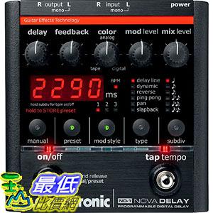 [美國直購] TC Electronic ND-1 延遲效果器 Nova Delay Guitar Pedal