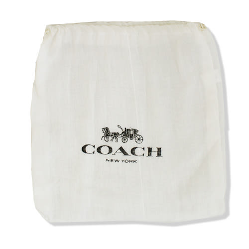 【COACH】經典大C LOGO PVC皮帶(黑灰)