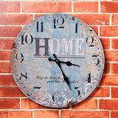 掛飾美式復古壁掛家居客廳店鋪創意鐘表墻面墻上墻壁掛件 貝芙莉女鞋