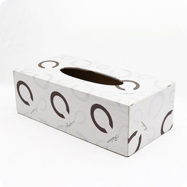 【雅典娜家飾】現代風白底仿皮革C字母圖樣底掀式面紙盒/餐巾盒/衛生紙盒/GF41