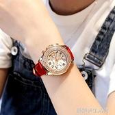 女手錶 水鑚韓版 潮流時尚款女2020新款學生三眼非機械森女系手錶