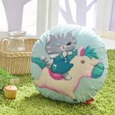 義大利Fancy Belle X DreamfulCat《飛吧!小木馬》數位造型抱枕 42*42CM