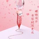 星空玻璃筆水晶蘸水筆學生用墨水星空水晶漸變色玻璃抖音同款鋼筆套裝 流行花園