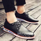 皮鞋 韓版加絨保暖男鞋冬季棉鞋英倫黑色百搭男士商務休閒鞋 米蘭shoe