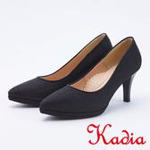 kadia.氣質高雅素面高跟鞋(9549-95黑色)