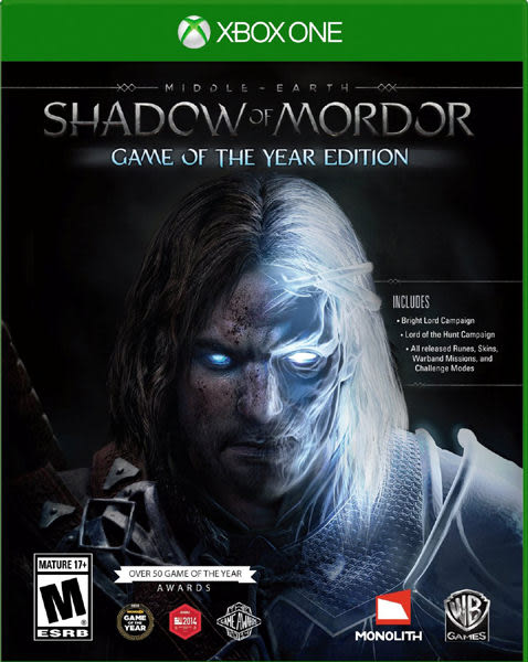 X1 Middle Earth: Shadow of Mordor Game of the Year 中土世界:魔多之影 年度版(美版代購)