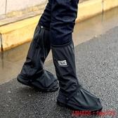雨鞋 雨鞋套戶外防水防雨男女成人鞋套長筒高筒雨天防滑加厚耐磨底騎行 全館免運