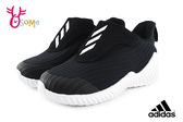 adidas FortaRun AC I 運動鞋 小童 寶寶 魔鬼氈慢跑鞋 P9392#黑色◆OSOME奧森童鞋