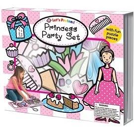 【小女孩的最愛:拼圖遊戲盒】LETS PRETEND: PRINCESS PARTY SET