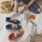 2019夏季休閒鞋小白鞋板鞋男士低筒透氣運動帆布鞋正版潮男鞋子【好康八五折搶購】