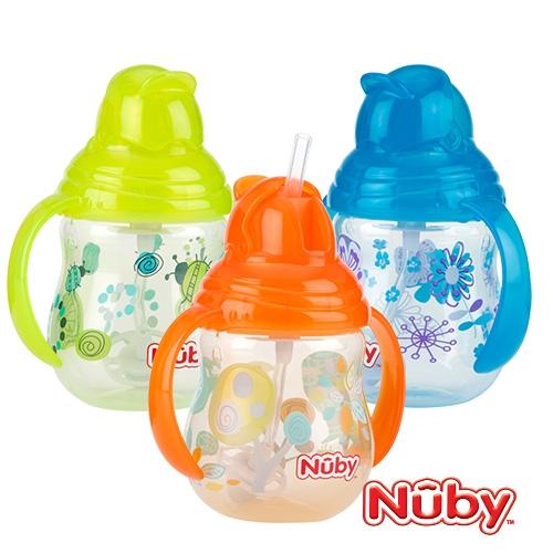 Nuby 卡拉雙耳彈跳吸管杯 (360度吸管) (款式任選)