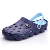 洞洞鞋沙灘鞋男夏季防滑包頭拖鞋軟底潮流室內涼拖情侶洞洞鞋男女【免運】