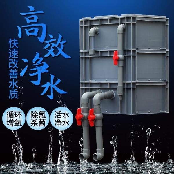 過濾器 魚缸過濾盒庭院魚池水循環系統周轉箱過濾箱上過濾自制滴流盒 diy 宜品居家