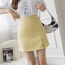 牛仔裙 職業裝春顯瘦一步裙開叉小性感純色a字裙包臀半身裙女 972#BMA131依佳衣