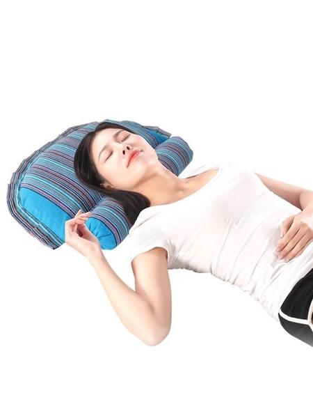 枕頭 頸椎按摩枕頭黃豆枕大豆枕頭蕎麥殼頸枕圓柱枕男女護頸枕頭頸椎病   ATF英賽爾3C數碼