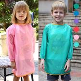 素色兒童吃飯防水反穿衣 反穿衣 防髒衣 吃飯衣 畫畫衣 圍兜 兒童繪畫衣