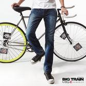 BIG TRAIN 舒活小直筒褲-男-深藍