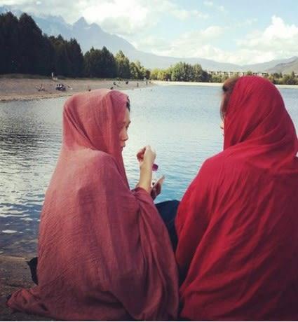 [協貿國際]  女士夏秋純色大披肩棉麻紗巾圍巾 (1入)