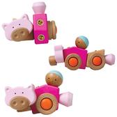 (福利品)【EQB 變形乖乖】百變組裝智慧積木-粉紅豬 EQ7007