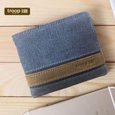 【TROOP】經典品格CLASSIC錢包/TRP0452BL(藍色)