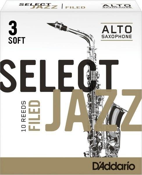 【金聲樂器】美國RICO Select Jazz Alto Sax 中音 薩克斯風 3號 SOFT 竹片3S