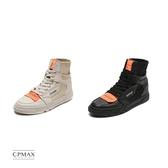 CPMAX 原宿高筒帆布鞋 型男必備 高幫帆布鞋 撞色帆布鞋 高筒 帆布鞋 休閒鞋【S66】