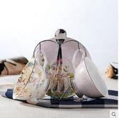 歐式英式個性創意陶瓷茶具套裝花茶杯送架子SMY612【123休閒館】