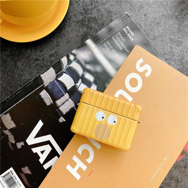 Airpods Pro 專用 台灣發貨 [ 黃色搞怪臉蛋 ] 藍芽耳機保護套 蘋果無線耳機保護