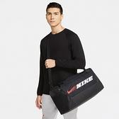 NIKE 手提包 BRSLA S DUFF-9.0 PX GFX 黑 白粉LOGO 行李袋 (布魯克林) CU9476-010