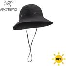 【ARC TERYX 始祖鳥 抗UV遮陽帽 《黑》】23197/漁夫帽/大盤帽/休閒帽/登山