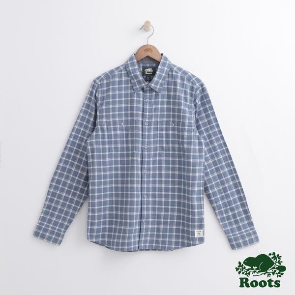 Roots 男裝 - ROOTS 愛默森長袖格紋襯衫 - 藍色