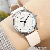 韓版手錶女學生韓國時尚潮流簡約女錶皮帶黑色中學生情侶手錶 Ifashion