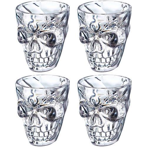《KitchenCraft》仿玻璃烈酒杯4入(骷髏50ml)