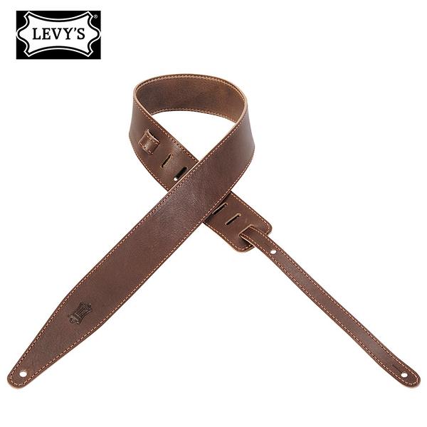 LEVY''S MV417DSL-BRN 吉他肩帶-褐色皮革