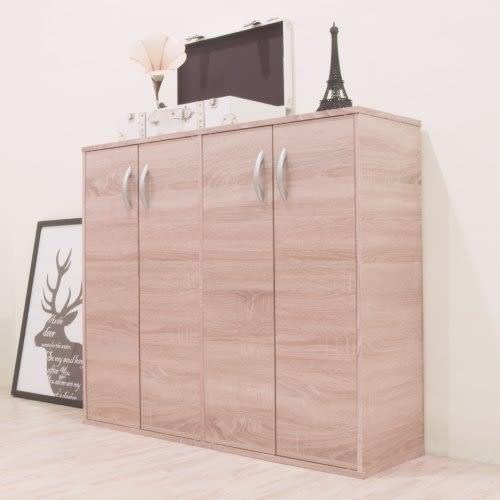 《百嘉美》H-組合式四門鞋櫃(淺橡木色) 衣櫃 斗櫃 書桌 收納櫃