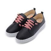 BABYLON 鬆緊縫線厚底休閒鞋 黑 女鞋 鞋全家福